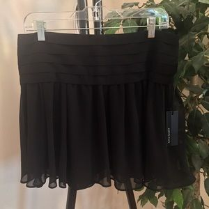 Express Black Pleated Above Knee Skirt
